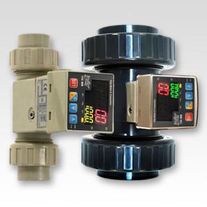 corrosion resistant plastic industrial fluid handling flow meter