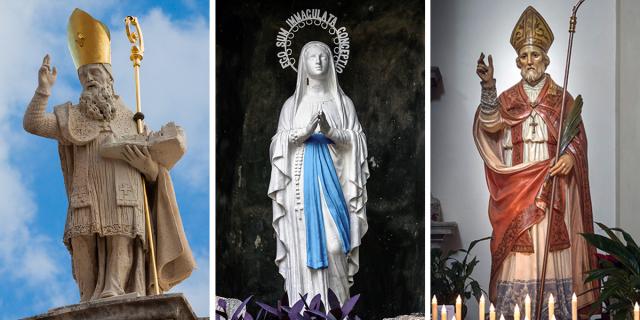 Paus, Paus yohanes paulus, tenggorokan, Orang Kudus, Santo Blasius, Maria, Penyakit, Menderita