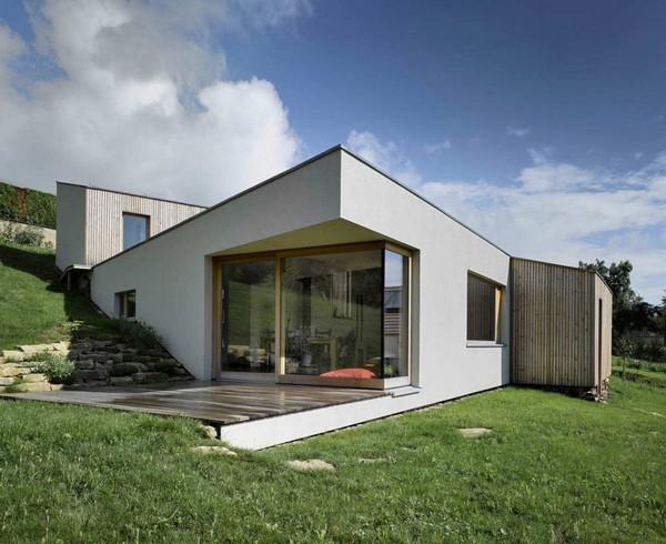Fachada de casa minimalista en francia fachadas de casas for Casa minimalistas
