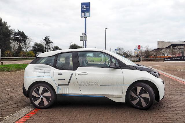 White BMW i3 Electric Car Electric Vehicle Experience Centre CentreMK Milton Keynes