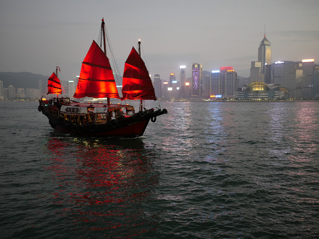Junk boat in Victoria Harbour