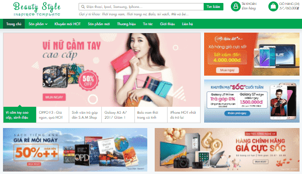 Giao diện blogspot bán hàng Affiliate Marketing