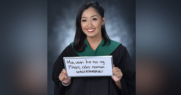 Graduate tells OFW mom to go home, promises to be the one to work now