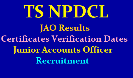 TS NPDCL JAO Results, Certificates Verififcation dates 2019 (Junior Accounts Officers) /2019/06/ts-npdcl-jao-results-certificates-verification-dates-junior-accounts-officers.html