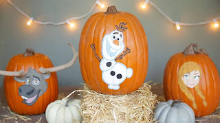 Frozen painted pumpkins