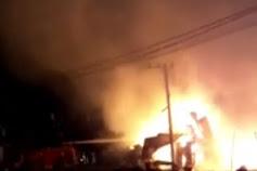 Dilalap Si Jago Merah, 9 Unit Bangunan di Simpang Tugu Opak - Aceh Tamiang Ludes Terbakar