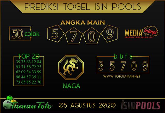 Prediksi Togel ISIN TAMAN TOTO 05 AGUSTUS 2020