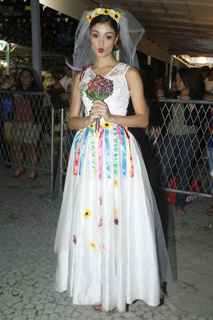 Fantasia Festa Junina, vestido noiva Sophie Charlotte