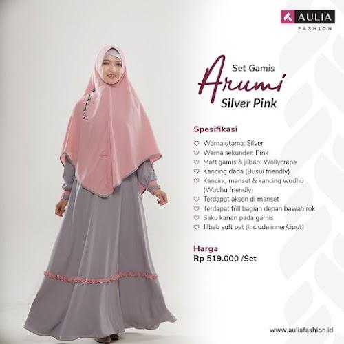 Gamis Arumi Silver Pink