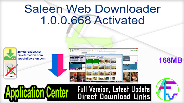Saleen Web Downloader 1.0.0.668 Activated
