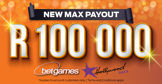 Betgames Max Payout Increased to R100 000!