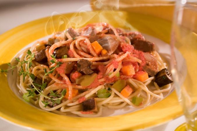 Receita Espaguete ao Molho de Tomate com Carne