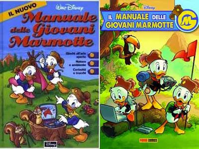 Il Nuovo Manuale delle Giovani Marmotte Disney del 2000 e il Manuale Panini del 2020