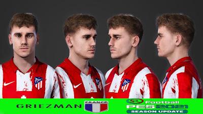 PES 2021 Faces Antoine Griezmann Short Hair by SR