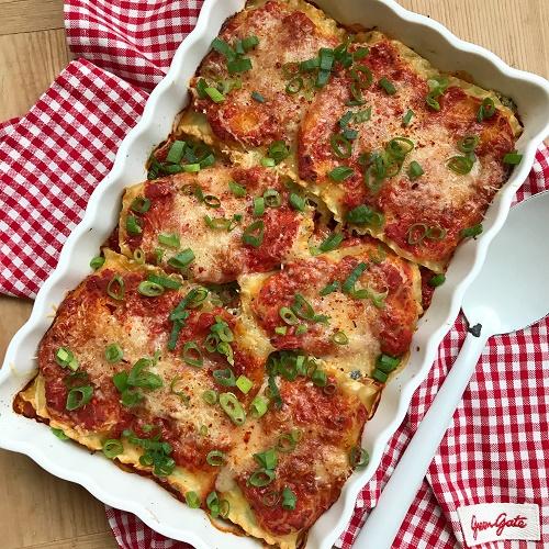 Lasagna Roll Ups ~ Lasagnerollen mit Mangold & Ricotta