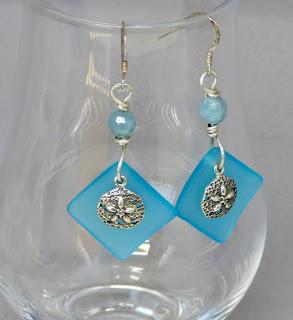 Faux Sea Glass Earrings by BayMoonDesign