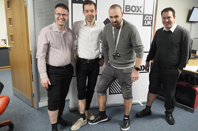 Box staff get waxed for Comic Relief