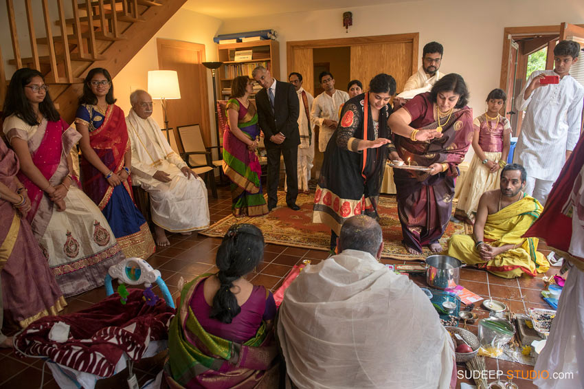 Indian Hindu Baby Naming Ceremony Fire worship SudeepStudio.com Ann Arbor Indian Event Photographer