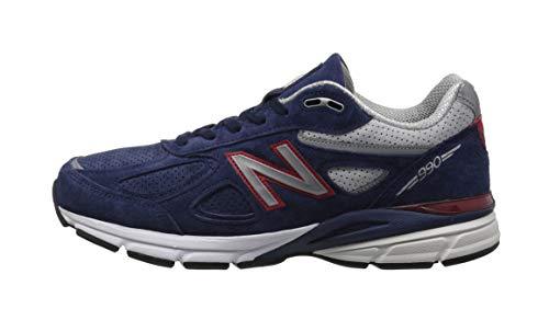 94391afe00cfe New Balance Men's 990v4 Running Shoe, Blue/Pigment Red, 8.5 D US 2019