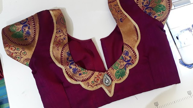 Paithani Patch Work Blouse Back Neck Design Cutting And Stitching Video