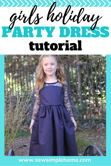 Create the perfect dress for special occasions with this girls lace dress sewing pattern and tutorial.