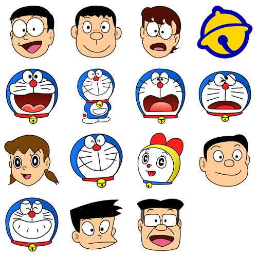 Gambar 43 Coloring Page Sketsa Doraemon Gambar Nangri