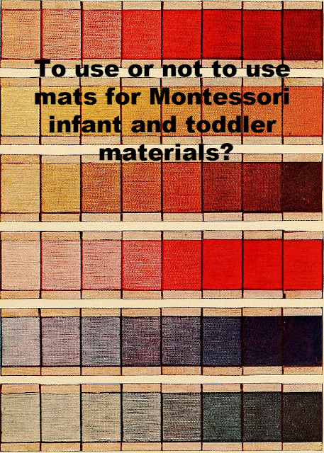 To use or not to use mats for Montessori infant and toddler materials?