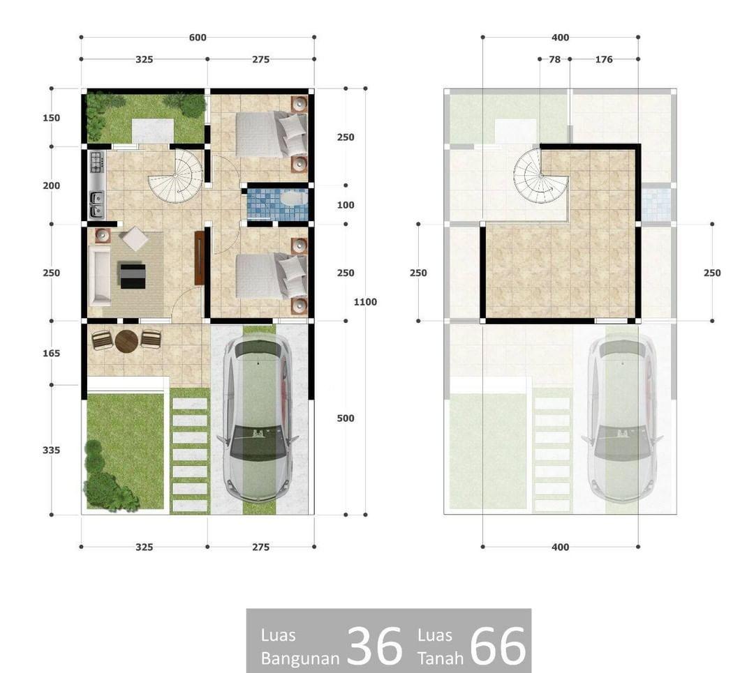 Desain Dan Denah Rumah Minimalis Dengan Ukuran 6 X 11 M Rumah Asri Dan Bebas Banjir Homeshabby Com Design Home Plans Home Decorating And Interior Design