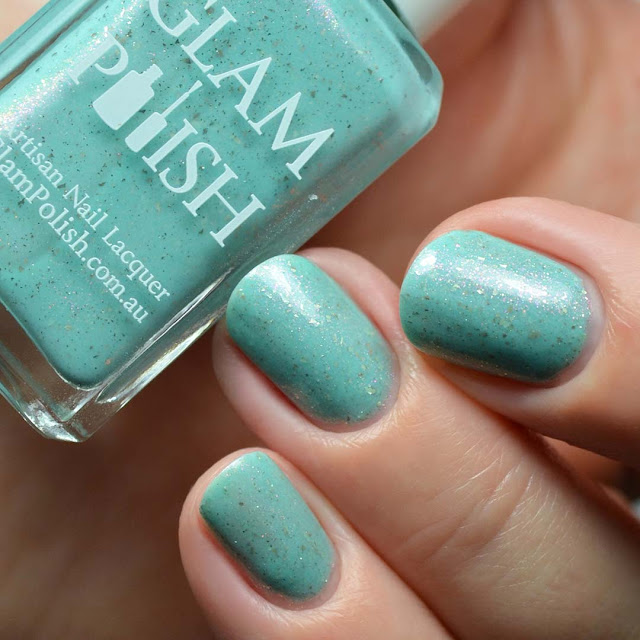 mint crelly shimmer nail polish