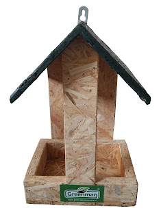 wooden hut bird feeder in ahmedabad