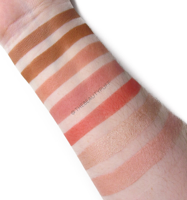 palladio bronzer blush luminizer swatches | the beauty puff