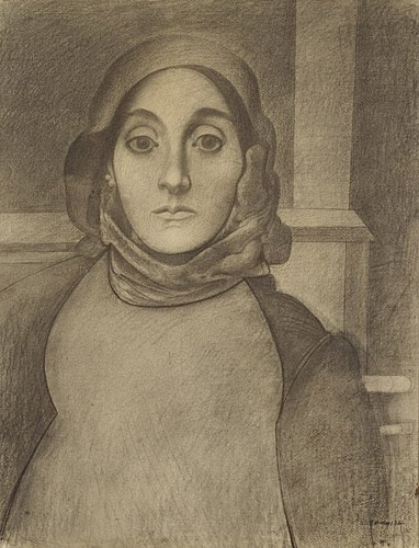 Arshile Gorky, portrait of the artist's mother, 1936