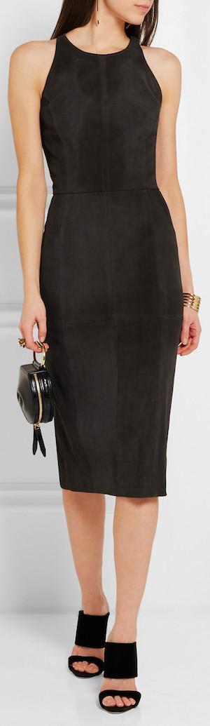 TAMARA MELLON Cutout Suede Dress