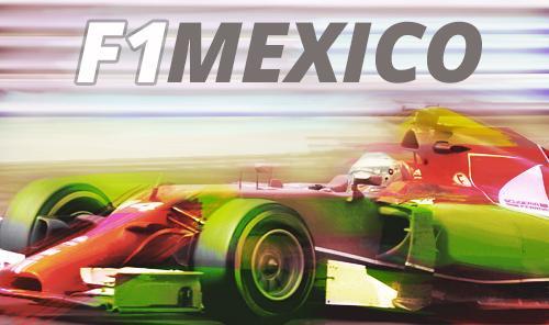 Formula 1 en Mexico con Auto en color rojo