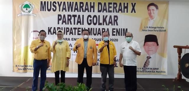 Musda ke - X Partai Golkar Kabupaten Muara Enim Berjalan Lancar dan Kondusif