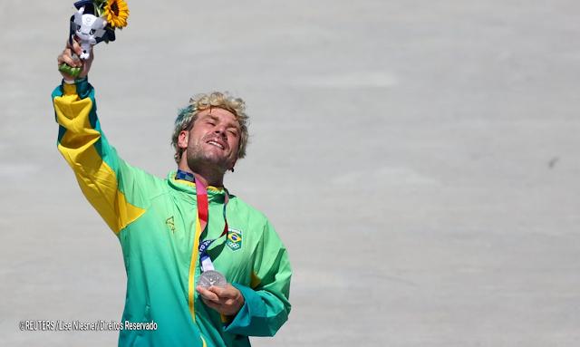 Skate Park: Pedro Barros conquista medalha de prata em final com três brasileiros