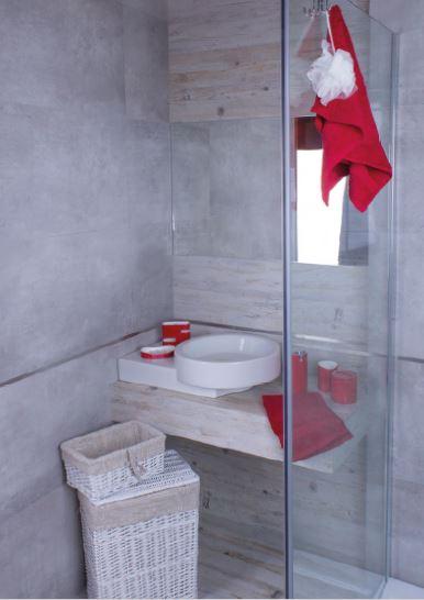 accesorii de baie rosii