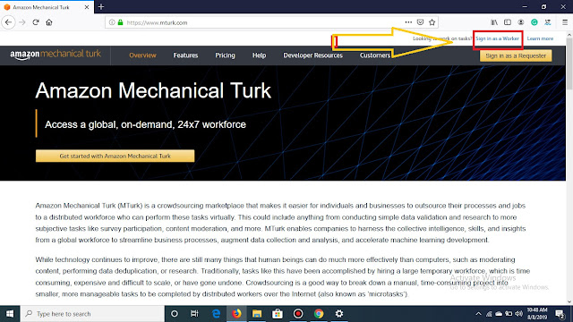 Amazon Mechanical Turk Job