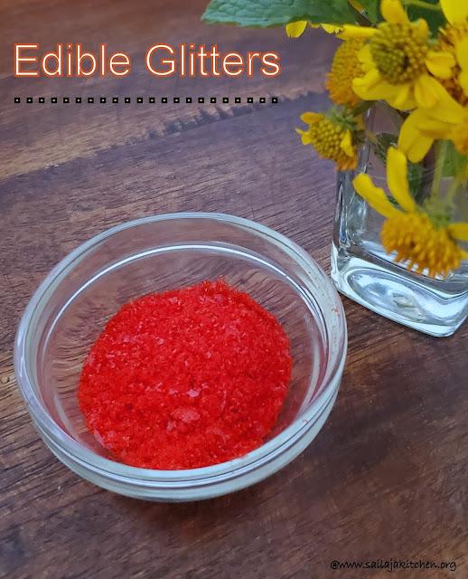 images of How to Make Homemade Edible Glitter / Glitter Recipe With Cornflour / Edible Glitter Recipe / Vegan Glitter