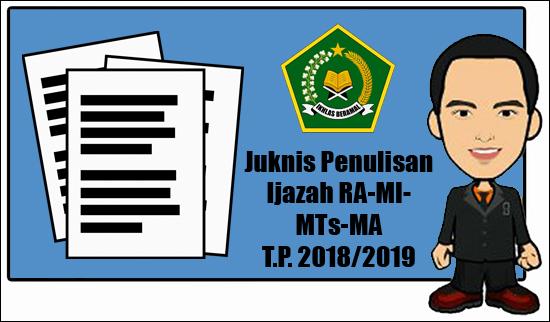 Juknis Penulisan Ijazah RA MI MTs MA TP 2018-2019