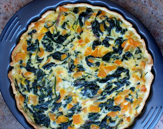 tarta ze szpinakeim, mozzarella,papryka,szybka tarta,łatwa tarta,jak zrobić tartę