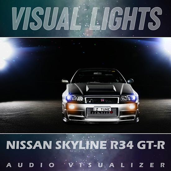 VISUAL LIGHTS - Nissan Skyline R34 GT-R Wallpaper Engine