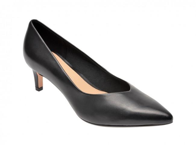 Pantofi CLARKS negri, negri de zi, din piele naturala