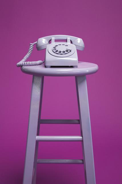 Lavendar Rotary Telephone