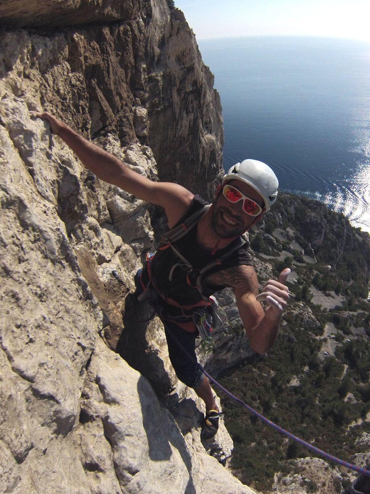 Joan Maria, guia de barrancs, escalada i muntanya