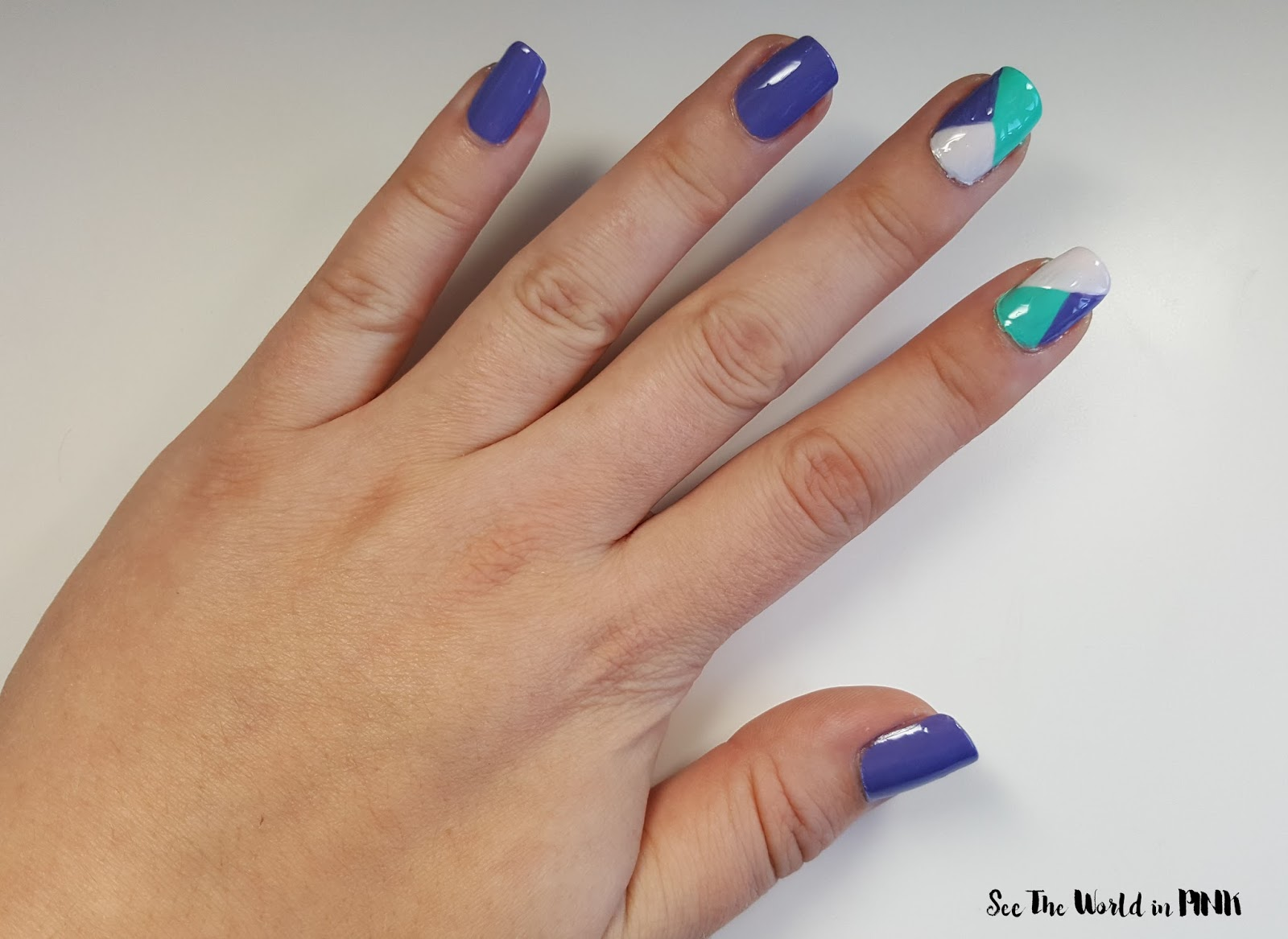 Manicure Tuesday - Geometric Color Block Nails