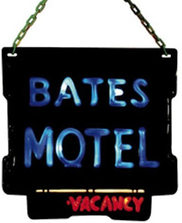 Bates Motel sign, Hitchcock party