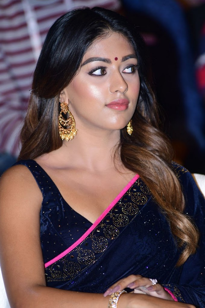 ✅ Sexy Anu Emmanuel Latest Images In Blue Saree