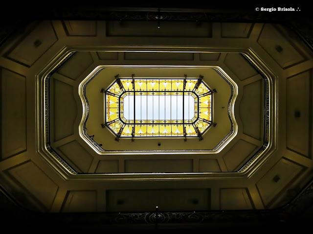 Perspectiva inferior da Claraboia do Centro Cultural Banco do Brasil - Centro - São Paulo
