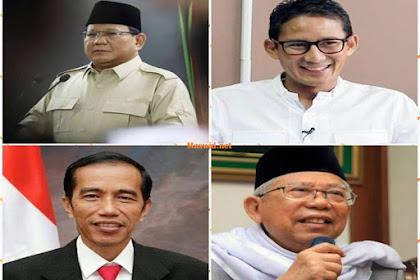 Ini Dia Biodata Profil Calon Presiden dan Wakil Presiden Indonesia 2019